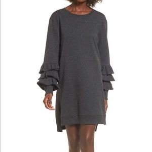 Nordstrom's BP Ruffle Sweatshirt Dress